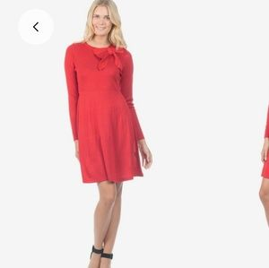 Jessica Howard side bow red knit dress